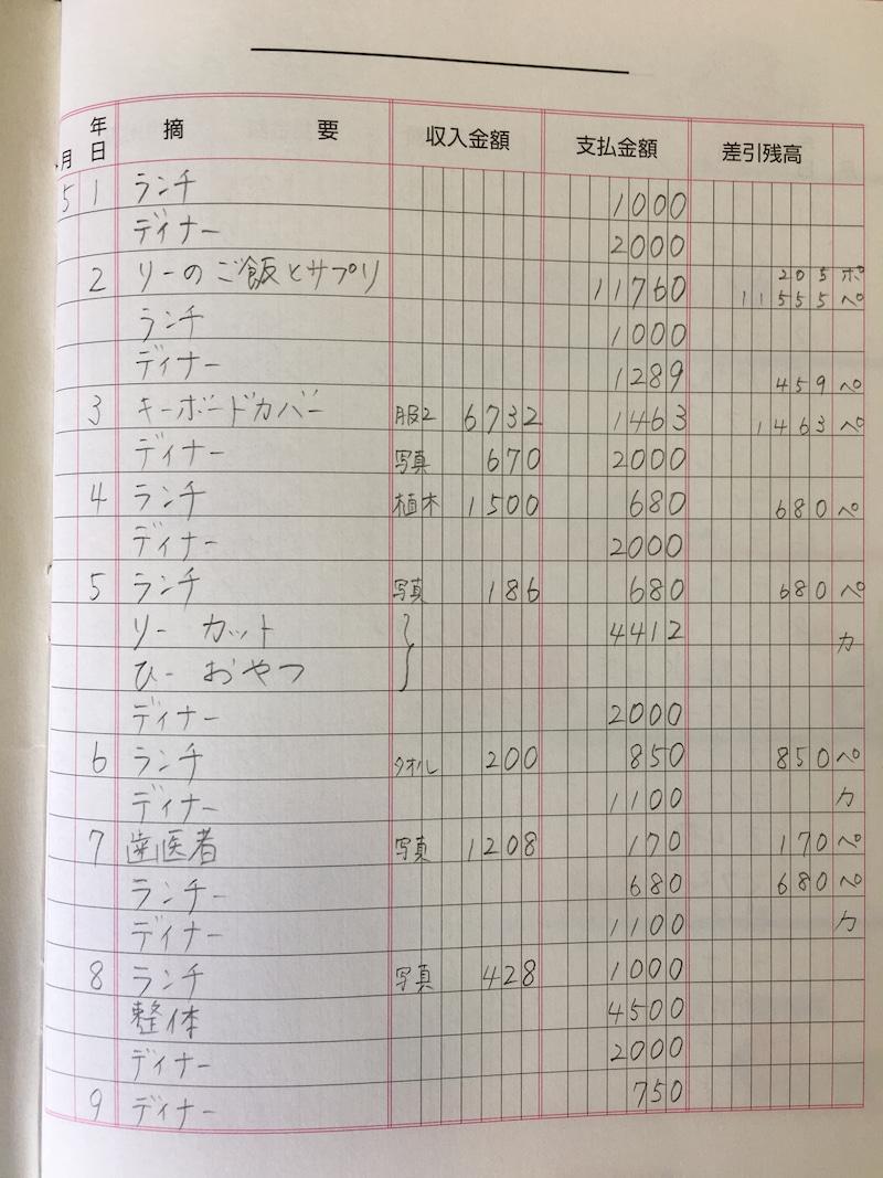 ミニマリスト 家計簿